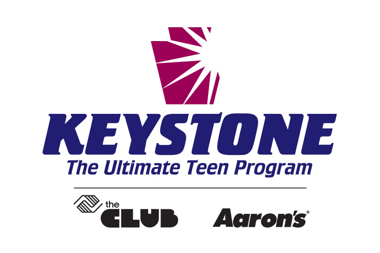 Keystone  -The Club - Aaron's - Logo lockup